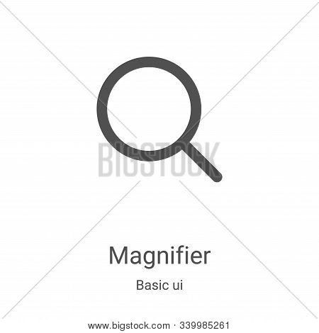 magnifier icon isolated on white background from basic ui collection. magnifier icon trendy and mode