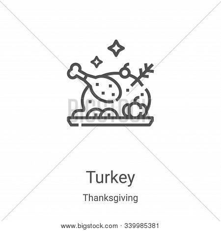 turkey icon isolated on white background from thanksgiving collection. turkey icon trendy and modern