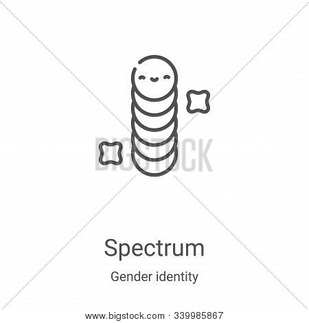 spectrum icon isolated on white background from gender identity collection. spectrum icon trendy and