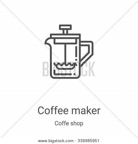 coffee maker icon isolated on white background from coffe shop collection. coffee maker icon trendy