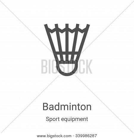 badminton icon isolated on white background from sport equipment collection. badminton icon trendy a