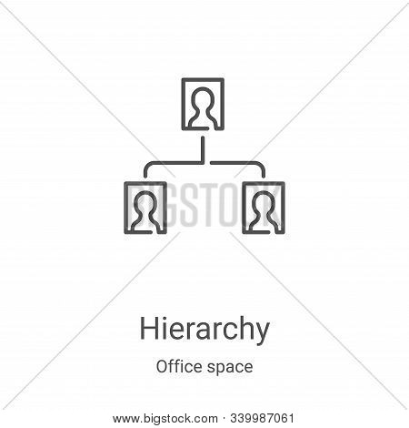 hierarchy icon isolated on white background from office space collection. hierarchy icon trendy and