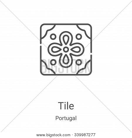 tile icon isolated on white background from portugal collection. tile icon trendy and modern tile sy