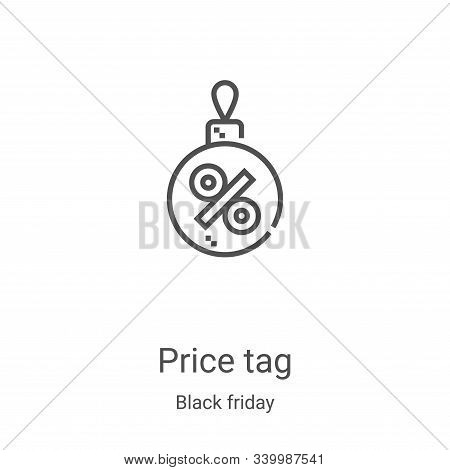 price tag icon isolated on white background from black friday collection. price tag icon trendy and