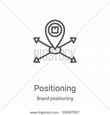 positioning icon isolated on white background from brand positioning collection. positioning icon tr