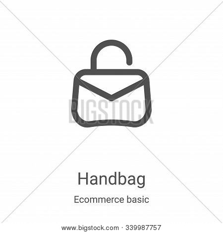 handbag icon isolated on white background from ecommerce basic collection. handbag icon trendy and m