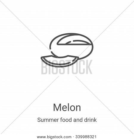 melon icon isolated on white background from summer food and drink collection. melon icon trendy and