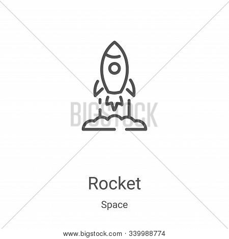 rocket icon isolated on white background from space collection. rocket icon trendy and modern rocket