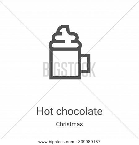 hot chocolate icon isolated on white background from christmas collection. hot chocolate icon trendy