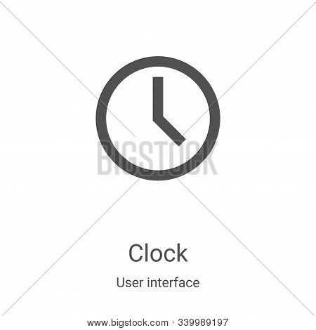 clock icon isolated on white background from user interface collection. clock icon trendy and modern