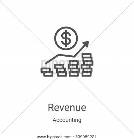Revenue icon isolated on white background from accounting collection. Revenue icon trendy and modern