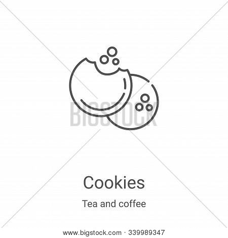 cookies icon isolated on white background from tea and coffee collection. cookies icon trendy and mo