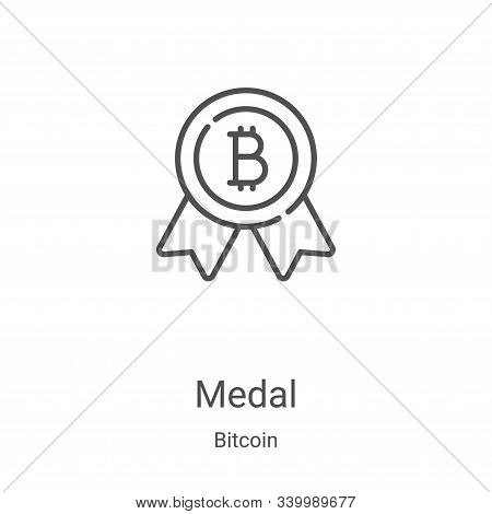 medal icon isolated on white background from bitcoin collection. medal icon trendy and modern medal