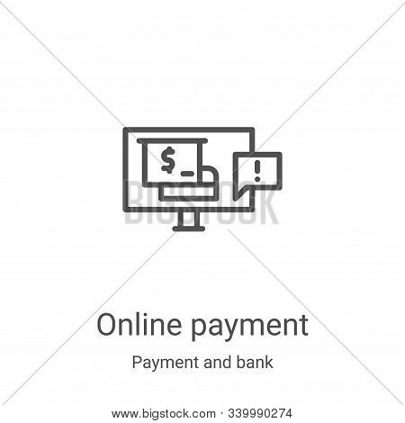 online payment icon isolated on white background from payment and bank collection. online payment ic