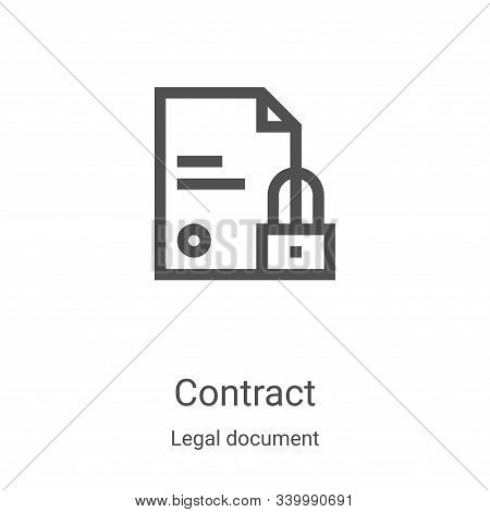contract icon isolated on white background from legal document collection. contract icon trendy and