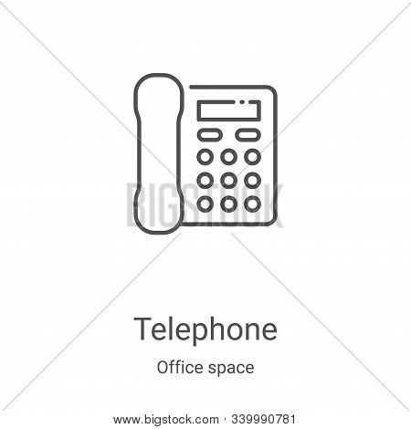 telephone icon isolated on white background from office space collection. telephone icon trendy and