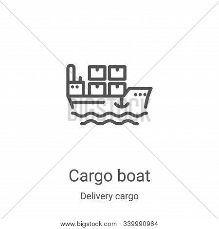 cargo boat icon isolated on white background from delivery cargo collection. cargo boat icon trendy