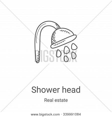 shower head icon isolated on white background from real estate collection. shower head icon trendy a