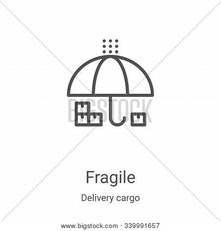 fragile icon isolated on white background from delivery cargo collection. fragile icon trendy and mo