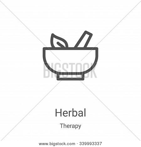 herbal icon isolated on white background from therapy collection. herbal icon trendy and modern herb