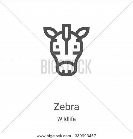 zebra icon isolated on white background from wildlife collection. zebra icon trendy and modern zebra