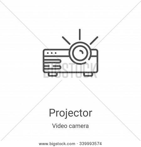 projector icon isolated on white background from video camera collection. projector icon trendy and