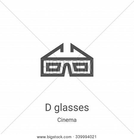 d glasses icon isolated on white background from cinema collection. d glasses icon trendy and modern