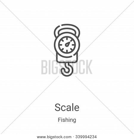 scale icon isolated on white background from fishing collection. scale icon trendy and modern scale