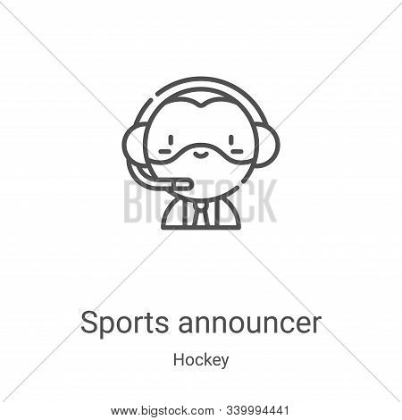 sports announcer icon isolated on white background from hockey collection. sports announcer icon tre
