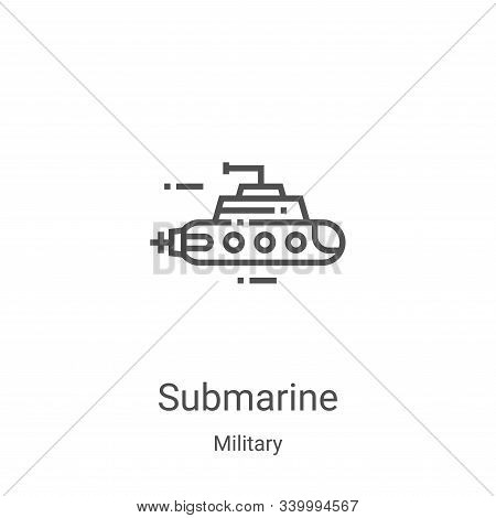 submarine icon isolated on white background from military collection. submarine icon trendy and mode