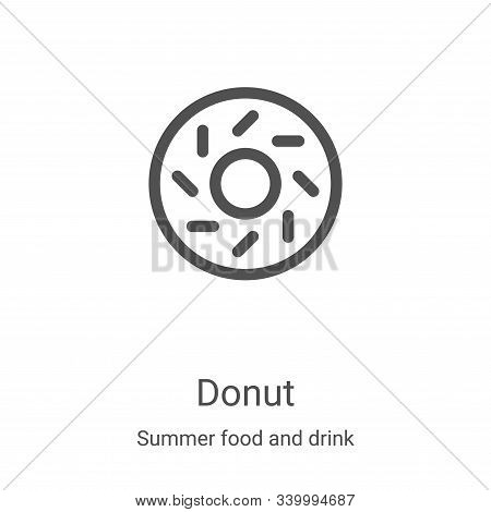 donut icon isolated on white background from summer food and drink collection. donut icon trendy and