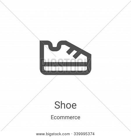 shoe icon isolated on white background from ecommerce collection. shoe icon trendy and modern shoe s