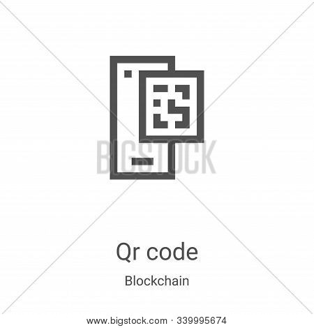 qr code icon isolated on white background from blockchain collection. qr code icon trendy and modern