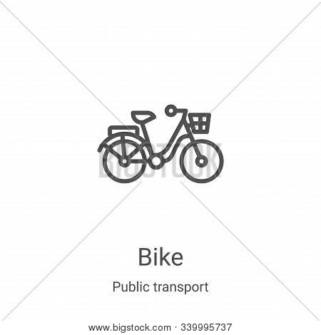 bike icon isolated on white background from public transport collection. bike icon trendy and modern