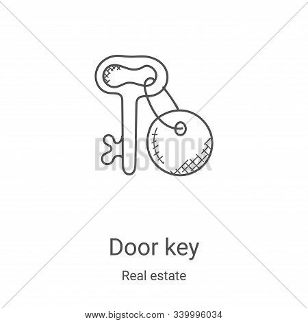 door key icon isolated on white background from real estate collection. door key icon trendy and mod