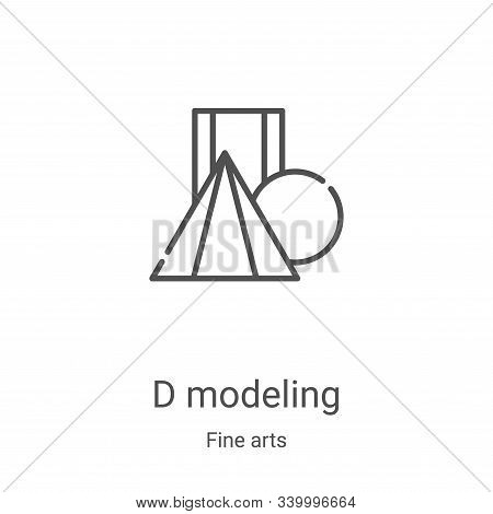 d modeling icon isolated on white background from fine arts collection. d modeling icon trendy and m