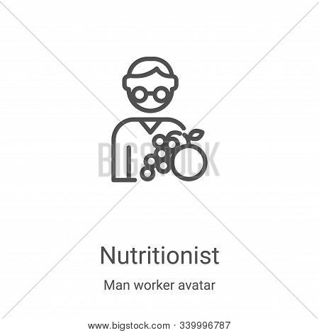 nutritionist icon isolated on white background from man worker avatar collection. nutritionist icon