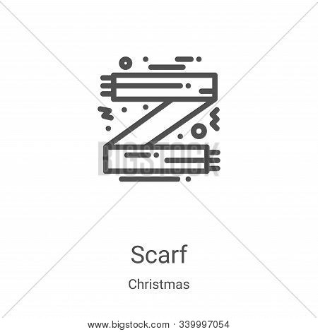 scarf icon isolated on white background from christmas collection. scarf icon trendy and modern scar