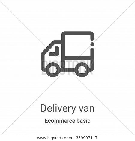delivery van icon isolated on white background from ecommerce basic collection. delivery van icon tr