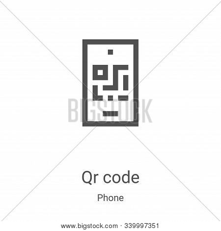 qr code icon isolated on white background from phone collection. qr code icon trendy and modern qr c