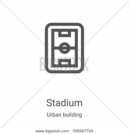 stadium icon isolated on white background from urban building collection. stadium icon trendy and mo