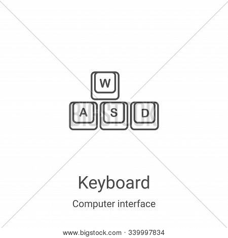 keyboard icon isolated on white background from computer interface collection. keyboard icon trendy