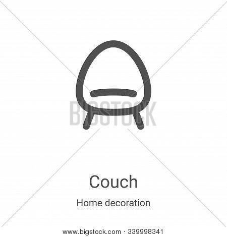 couch icon isolated on white background from home decoration collection. couch icon trendy and moder