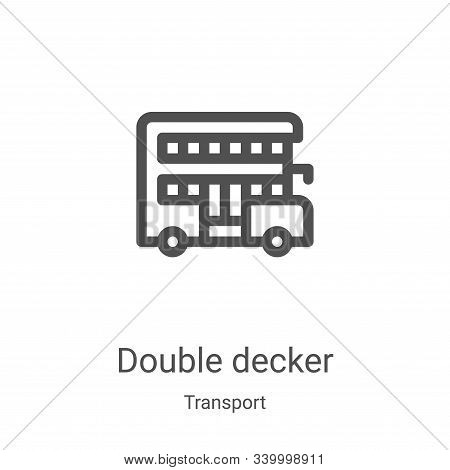 double decker icon isolated on white background from transport collection. double decker icon trendy