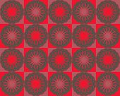 Pop Art Concentric Flowers Red Hues Variant poster
