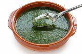 molokhia soup, egyptian cuisine poster