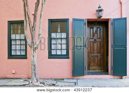 Charleston Pink House Doorway