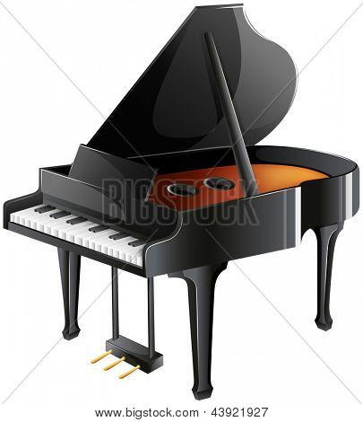 Illustration of a musician's piano on a white background