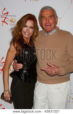 LOS ANGELES - MAR 26:  Tracey E. Bregman, Jerry Douglas attends the 40th Anniversary of the Young and the Restless Celebration at the CBS Television City on March 26, 2013 in Los Angeles, CA