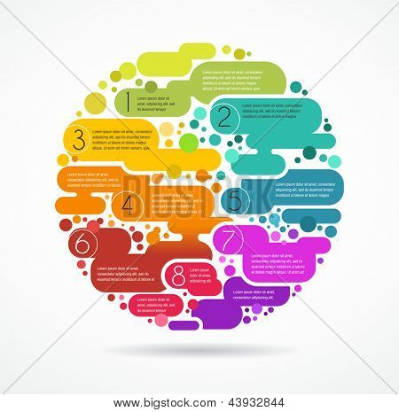 colorful abstract background with text space, infographics